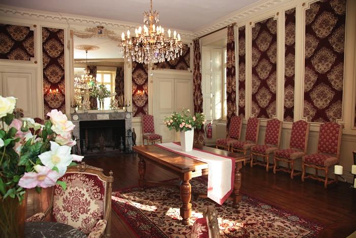 Grand salon des chambres d'hotes au chateau