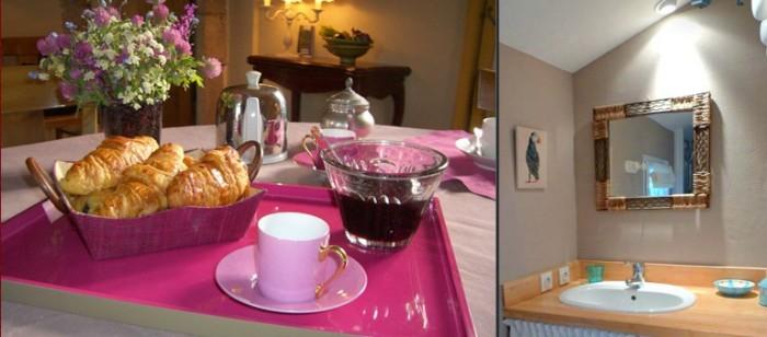 Petite déjeuner dans les chambres d'hotes de charme du Logis du Bourg