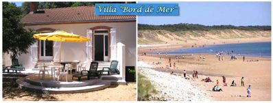 Villa bord de mer Gite longeville sur mer