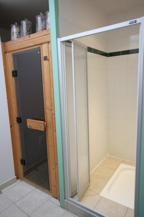 Sauna privé à l'intérieur du gîte