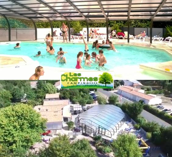 Camping avec piscine couverte chauffée à Apremont