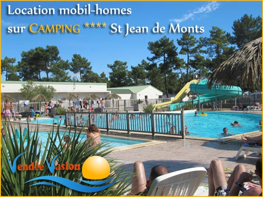 Location mobil homes sur camping à Saint Jean de Monts