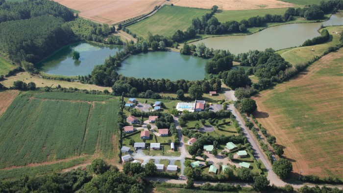 Photos aériennes des étangs du camping
